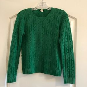 J. Crew Soft Wool-Cashmere Cable Sweater